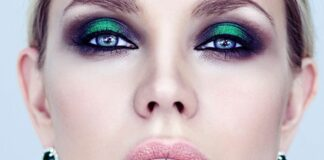 макияж, голубые глаза