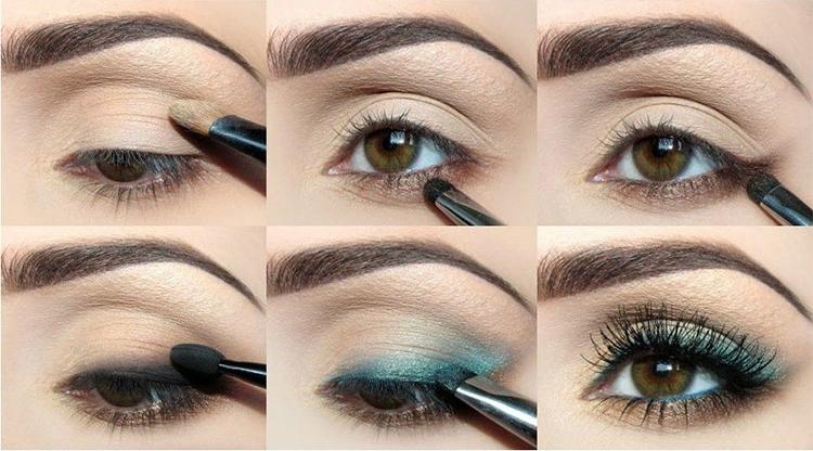 карие глаза, макияж