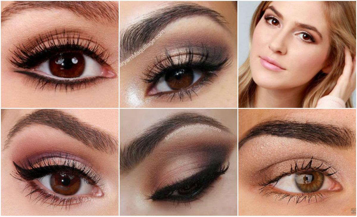 карие глаза, макияж для карих глаз