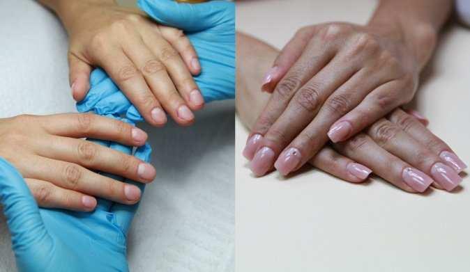 наращивание, ногти