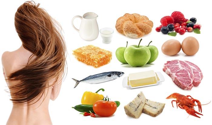 продукты, волосы