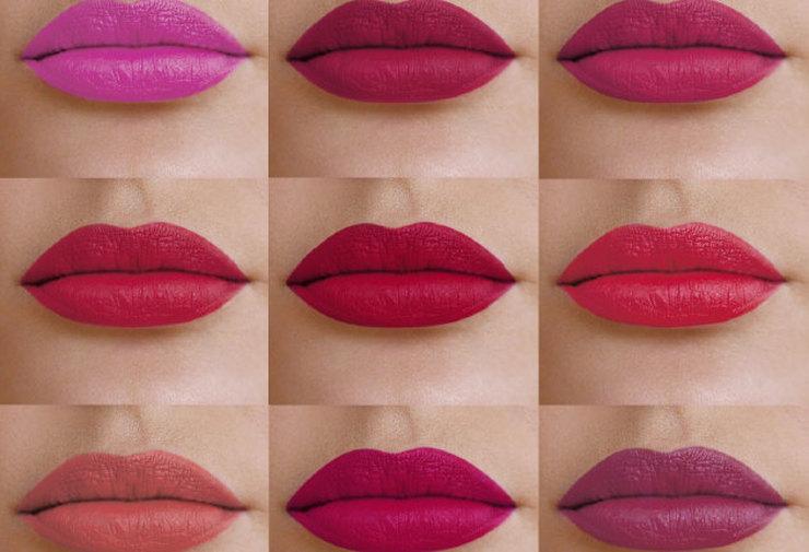 помада, цвет, губы