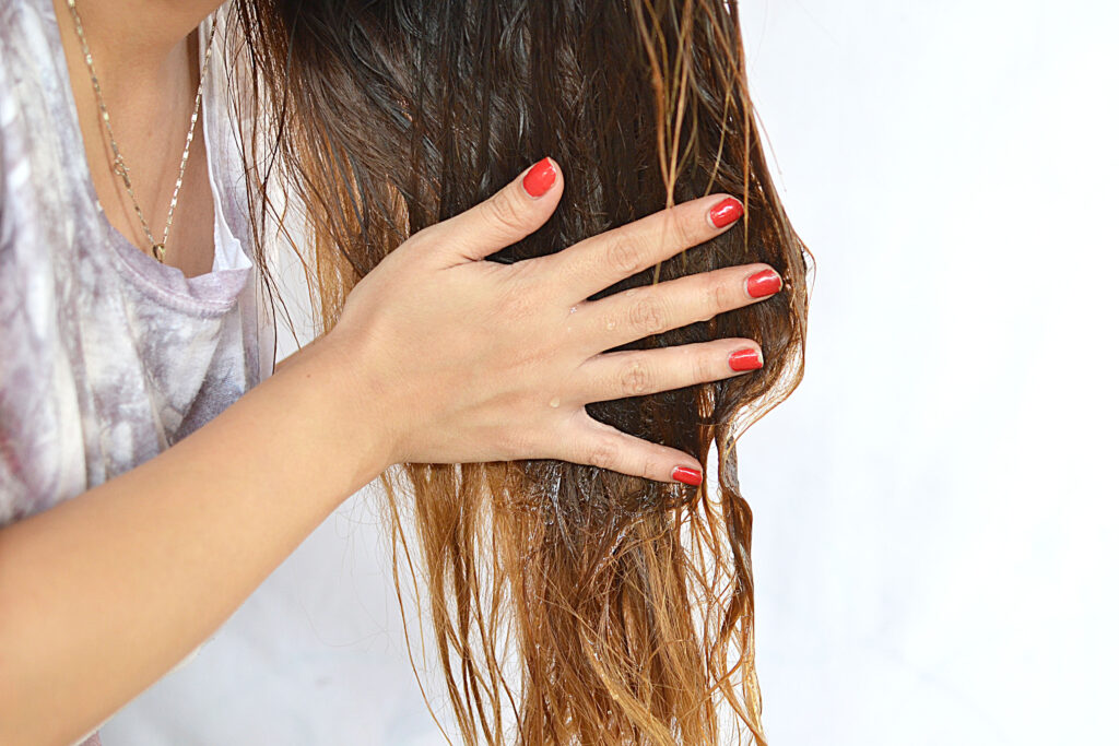 оливковое масло. волосы