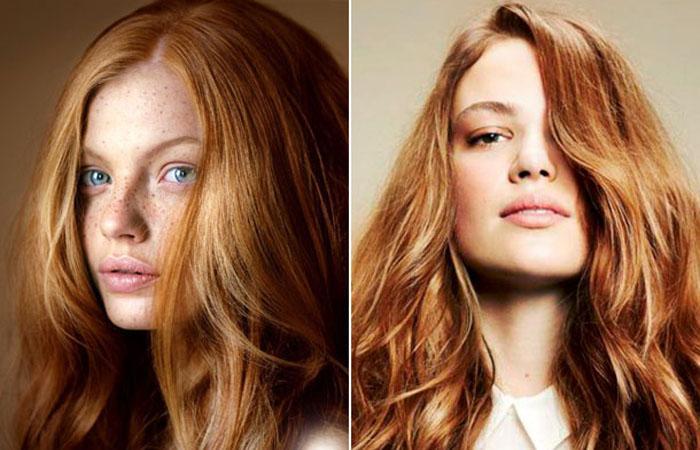 рыжие волосы, модный цвет волос