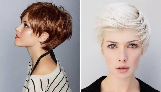 окрашивание на короткие волосы