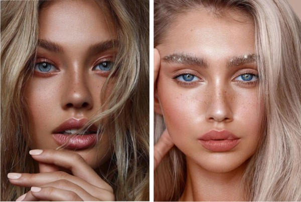 Модный макияж лета 2019 для блондинок