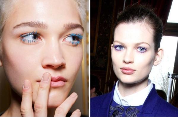 Модный макияж глаз - выбираем синюю тушь
