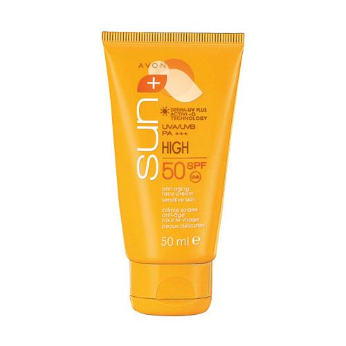 Солнцезащитный крем Avon для лица SPF 50