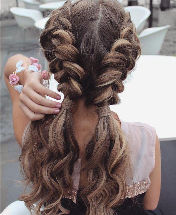 французская коса, косы, коса, прическа