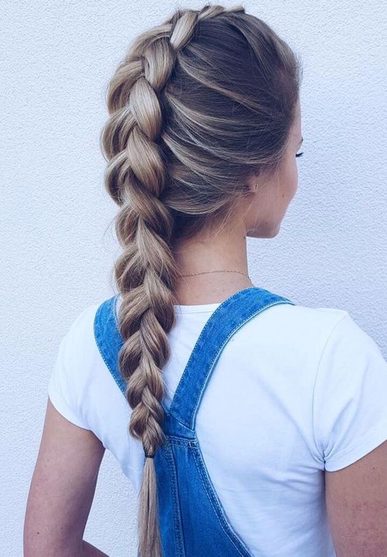 коса, колосок, прическа