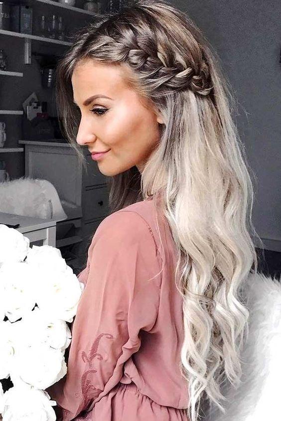 французская коса, коса, косы, прическа 2019