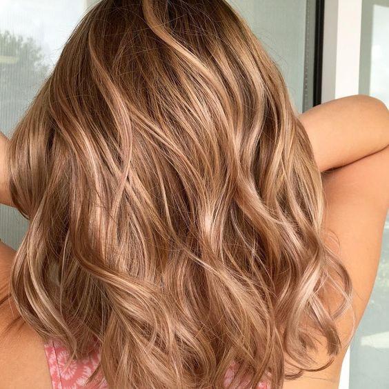 мелирование, русые волосы