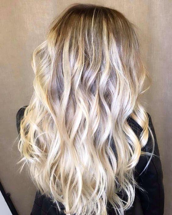 мелирования волос, светлые волосы