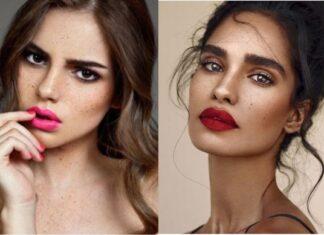макияж губ 2019