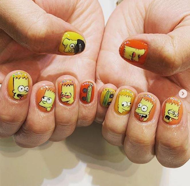 маникюр, рисунки на ногтях, мультфильмы