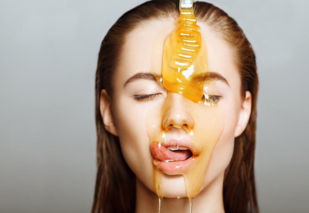 маска для лица, мед, оливковое масло